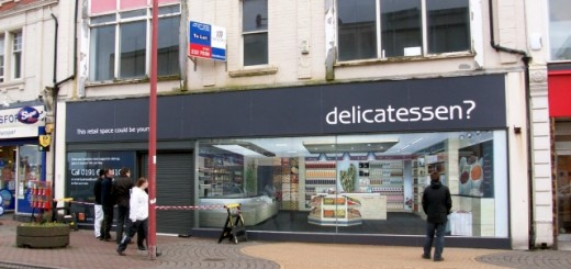 The former Select store in Whitley Bay, followings its 'Shopjacketting'