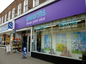 Alworths in Amersham (14 May 2010). Photograph by Graham Soult