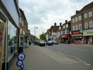 Sycamore Road in Amersham (14 May 2010). Photograph by Graham Soult
