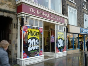 Edinburgh Woollen Mill, Barnard Castle (6 Mar 2010). Photograph by Graham Soult