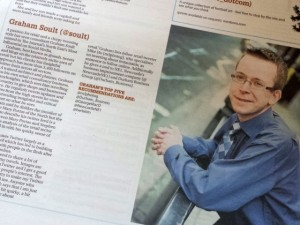 Graham Soult in The Journal's 'Most Influential' supplement (22 Nov 2013). Photograph by Graham Soult