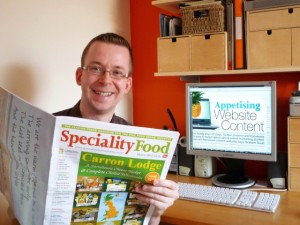 Graham with Speciality Food magazine. Photograph by Graham Soult