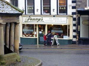 The popular Penny's Tea Room in Barnard Castle (6 Mar 2010). Photograph by Graham Soult