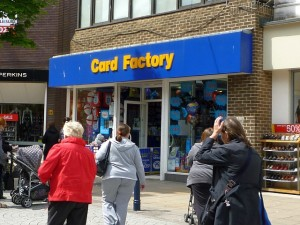Card Factory's South Shields store (18 Jun 2010). Photograph by Graham Soult