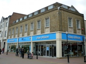 Former Woolworths (now Clas Ohlson), Kingston-upon-Thames (16 May 2010). Photograph by Graham Soult