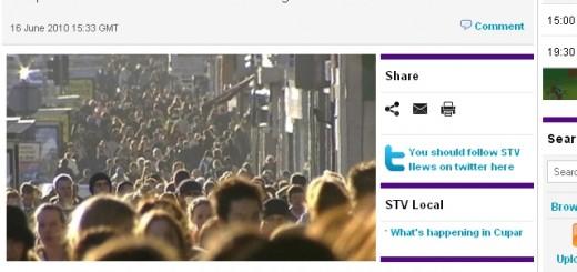 Screenshot of STV's coverage