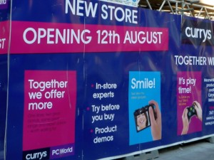 Upcoming PC World and Currys store in Northumberland Street, Newcastle (17 Jun 2010). Photograph by Graham Soult
