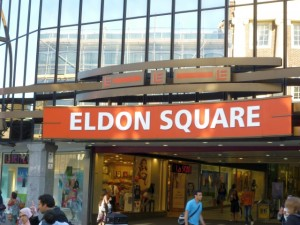 Northumberland Street entrance to Eldon Square (17 Jun 2010). Photograph by Graham Soult
