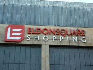 Eldon Square sign. Photograph by Graham Soult