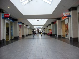 Byron Place shopping centre, Seaham (11 Sep 2009). Photograph by Graham Soult