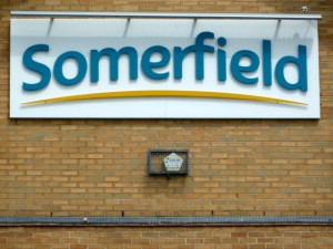 Somerfield logo. Photograph by Graham Soult