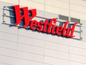 Westfield logo. Photograph by Graham Soult