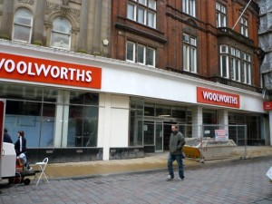 Former Woolworths, Darlington (12 March 2010). Photograph by Graham Soult