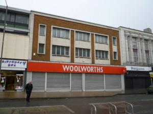 Former Woolworths, Gateshead (12 March 2010). Photograph by Graham Soult