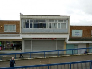 Former Woolworths, Newton Aycliffe (12 March 2010). Photograph by Graham Soult