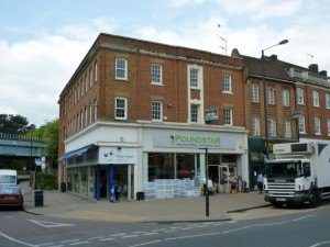 Former Woolworths (now Poundstar) in Pinner (14 May 2010). Photograph by Graham Soult
