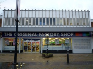 The Original Factory Shop, Spennymoor (12 March 2010). Photograph by Graham Soult