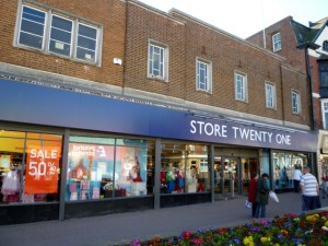 Former Woolworths (now Store Twenty One), Stanley (12 April 2010). Photograph by Graham Soult