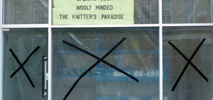 Wooly Minded's Newcastle shop (17 Jun 2010). Photograph by Graham Soult
