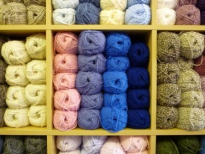 Wool display in the North Shields Wooly Minded (18 Jun 2010). Photograph by Graham Soult