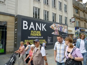 Upcoming Bank store, Northumberland Street, Newcastle (24 Jul 2010). Photograph by Graham Soult