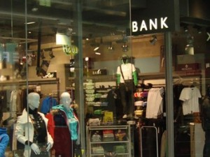 Typical Bank store. Image courtesy of Bank