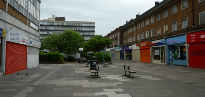 Billingham town centre (28 Jun 2010). Photograph by Graham Soult