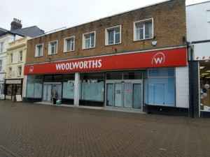 Former Woolworths, Caernarfon (July 2010). Photograph by Sally Daffarn