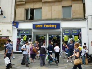 Card Factory, Northumberland Street, Newcastle (24 Jul 2010). Photograph by Graham Soult