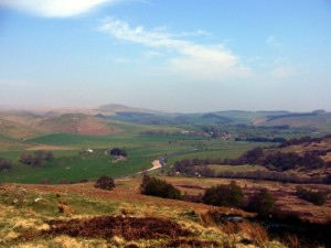 The Coquet valley near Alwinton (25 April 2009). Photograph by Graham Soult