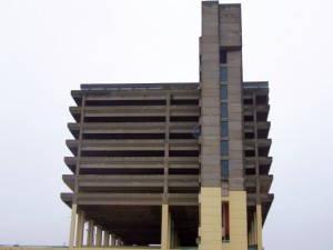 Gateshead's Get Carter car park (16 Dec 2009). Photograph by Graham Soult