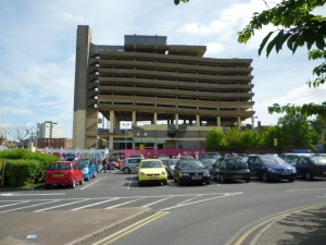 Gateshead's Get Carter car park (18 Jun 2010). Photograph by Graham Soult