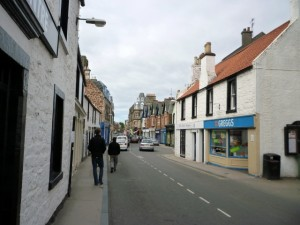 North Berwick's characterful town centre (2 May 2010). Photograph by Graham Soult
