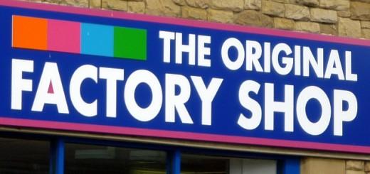 Original Factory Shop fascia. Photograph by Graham Soult