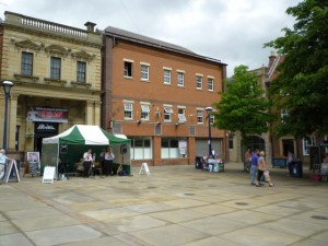 Site of the new Morpeth store (10 Jul 2010). Photograph by Graham Soult