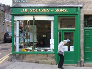 J.R. Soulsby & Sons toy shop, Rothbury (13 February 2010). Photograph by Graham Soult