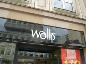 Standalone Wallis store at Monument Mall in Newcastle