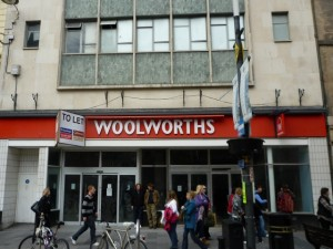 Former Woolworths, Inverness - prior to Poundland moving in (1 May 2010). Photograph by Graham Soult