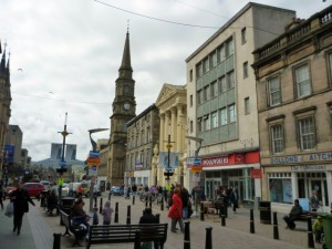 High Street, Inverness with former Woolworths store (1 May 2010). Photograph by Graham Soult