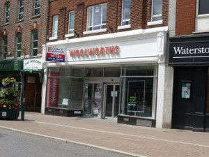 Former Woolworths, Tiverton (22 June 2009). Photograph by Lewis Clarke