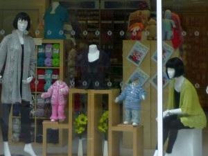 Window display, Wooly Minded, Newcastle (24 Jul 2010). Photograph by Graham Soult