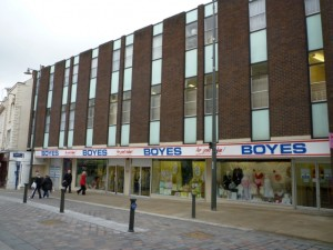 Boyes' existing Darlington store (12 Mar 2010). Photograph by Graham Soult