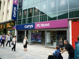 Currys and PC World, Northumberland Street, Newcastle (6 Aug 2010). Photograph by Graham Soult