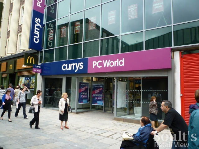 In Northumberland Street, the new combined Currys and PC World now boasts