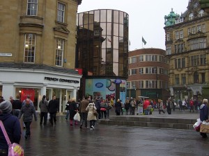 High Friars entrance to Eldon Square (22 Jan 2010). Photograph by Graham Soult