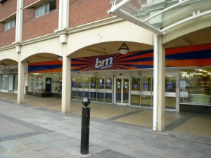 Former Woolworths (now B&M Bargains) in Stockton's Castlegate shopping centre (28 June 2010). Photograph by Graham Soult