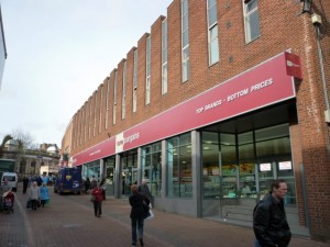 Home Bargains in Tamworth's former Woolworths (19 Mar 2010). Photograph by Graham Soult