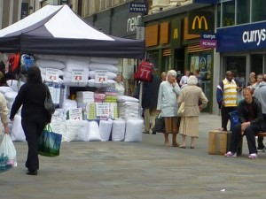 Is this really the place for a market stall? (6 Aug 2010). Photograph by Graham Soult