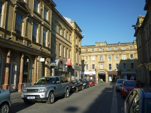 Nelson Street, with the Green Market access on the left (17 Jun 2010). Photograph by Graham Soult