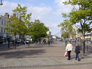 Stockton High Street (17 Sep 2010). Photograph by Graham Soult